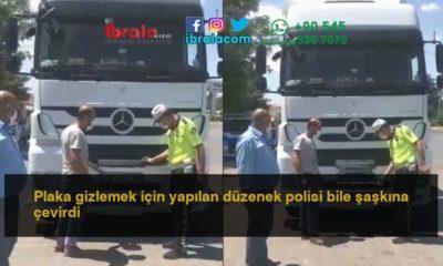 Plaka gizlemek için yapılan düzenek polisi bile şaşkına çevirdi