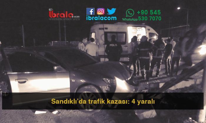 Sandıklı'da trafik kazası: 4 yaralı
