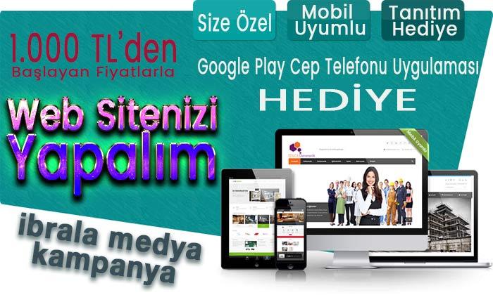 Cep Telefonu Uygulaması Hediyeli Site Tasarımında KAMPANYA
