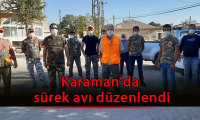 Karaman'da sürek avı düzenlendi
