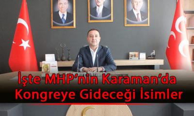 İşte MHP'nin Karaman'da Kongreye Gideceği İsimler