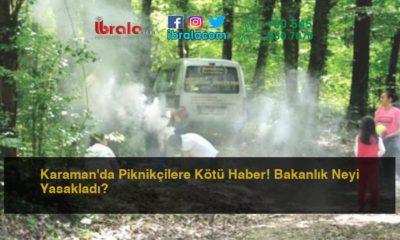 Karaman'da Piknikçilere Kötü Haber! Bakanlık Neyi Yasakladı?
