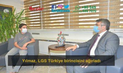 Yılmaz, LGS Türkiye birincisini ağırladı