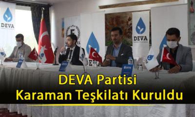 DEVA Partisi Karaman Teşkilatı Kuruldu