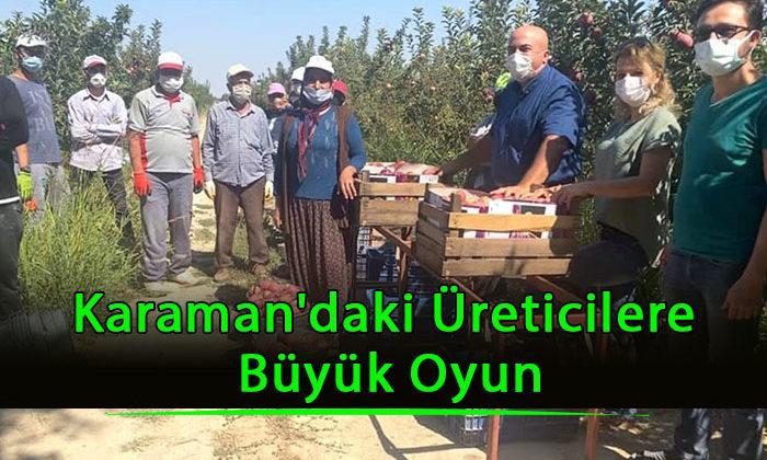 Karaman'daki Üreticilere Büyük Oyun