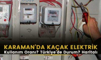 Karaman'da kaçak elektrik kullanım oranı ne?