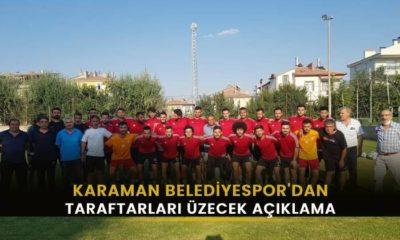Karaman Belediyespor'dan taraftarları üzecek açıklama
