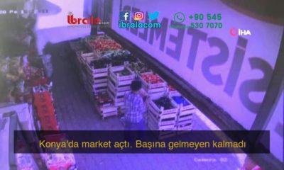 Konya'da market açtı. Başına gelmeyen kalmadı
