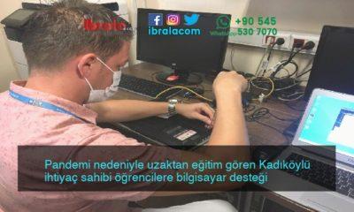 Pandemi nedeniyle uzaktan eğitim gören Kadıköylü ihtiyaç sahibi öğrencilere bilgisayar desteği