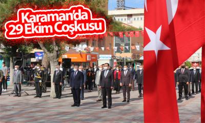 Karaman'da 29 Ekim Coşkusu
