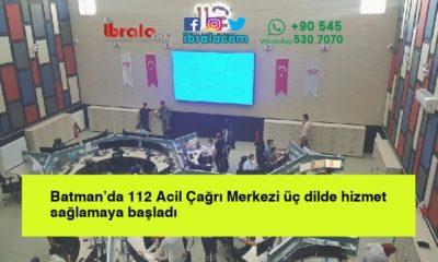 Batman'da 112 Acil Çağrı Merkezi üç dilde hizmet sağlamaya başladı