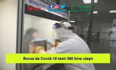 Bursa'da Covid-19 testi 390 bine ulaştı