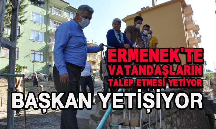 Ermenek'te vatandaşların talep etmesi yetiyor