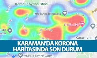 Karaman'da Korona Haritasında Son Durum
