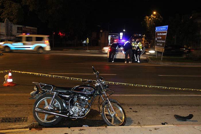 Karaman'da tır motosiklete çarptı