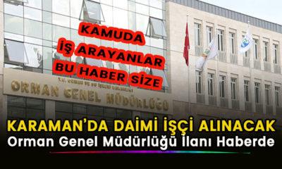 Karaman'da kamuya daimi işçi alınacak