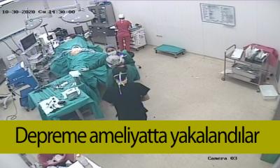 İzmir Depremine Ameliyatta Yakalandılar