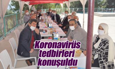 Ermenek'te Koronavirüs Tedbirleri Konuşuldu