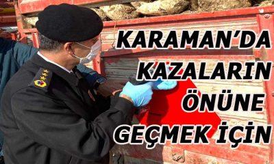 Karaman'da kazaların önüne geçmek için
