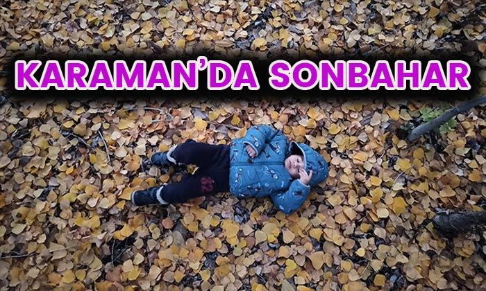 Karaman'da sonbahar manzaraları