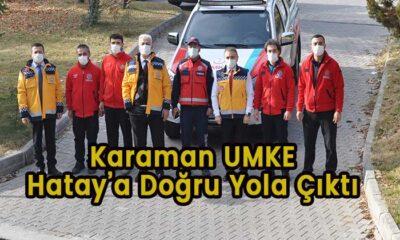 Karaman UMKE Hatay'a yola çıktı
