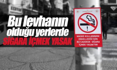 Bu Levhanın Olduğu Yerlerde Sigara İçmek Yasak!
