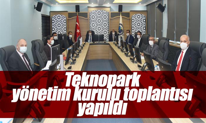 Teknopark yönetim kurulu toplantısı yapıldı