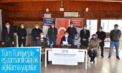 Tüm Türkiye'den Eş Zamanlı Olarak Açıklama Yaptılar