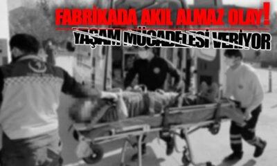 Karaman'da Fabrikada Akıl Almaz Olay!