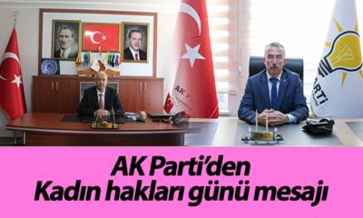 AK Parti'den Kadın hakları günü mesajı
