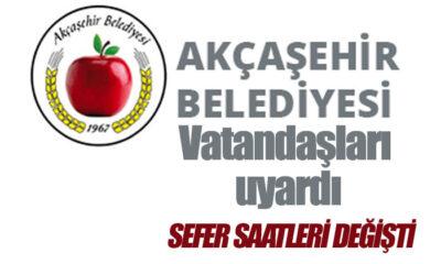 Akçaşehir Belediyesi Vatandaşları Uyardı