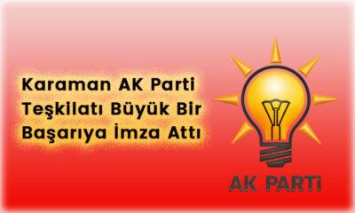 Karaman AK Parti Türkiye birincisi oldu