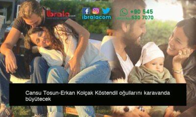 Cansu Tosun-Erkan Kolçak Köstendil oğullarını karavanda büyütecek