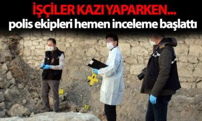 Karaman'da İşçiler Kazı Yaparken…