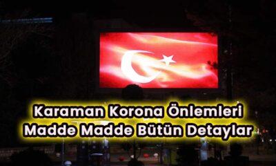 Karaman'da korona önlemleri madde madde