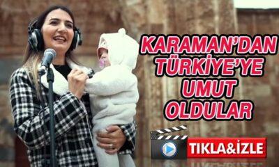 Karaman'dan Türkiye'ye umut oldular