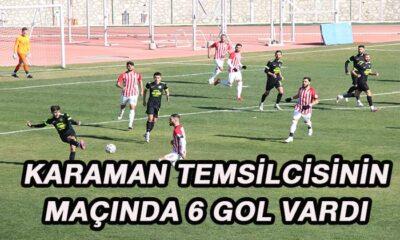 Karaman temsilcisinin maçında altı gol vardı