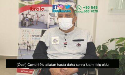 (Özel) Covid-19'u atlatan hasta daha sonra kısmi felç oldu