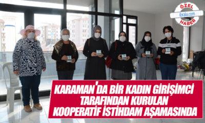 Karaman'da Bir Kadın Girişimci Tarafından Kurulan Kooperatif İstihdam Aşamasında