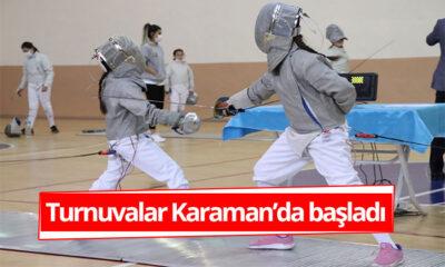 Turnuvalar Karaman'da Başladı