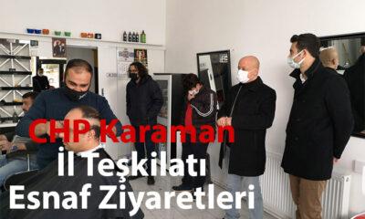 CHP Karaman İl Teşkilatı Esnafları Ziyaret Etti