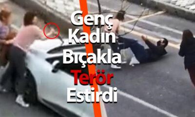 Genç Kadın Bıçakla Terör Estirdi