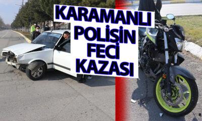 Karamanlı Polis Isparta'da Kaza Yaptı