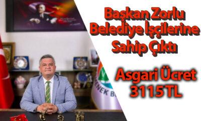 Başkan Atilla Zorlu'dan Belediye İşçilerin Asgari Ücret Hamlesi!