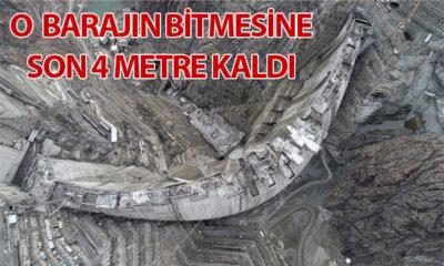 Yusufeli Barajı Son 4 Metrede
