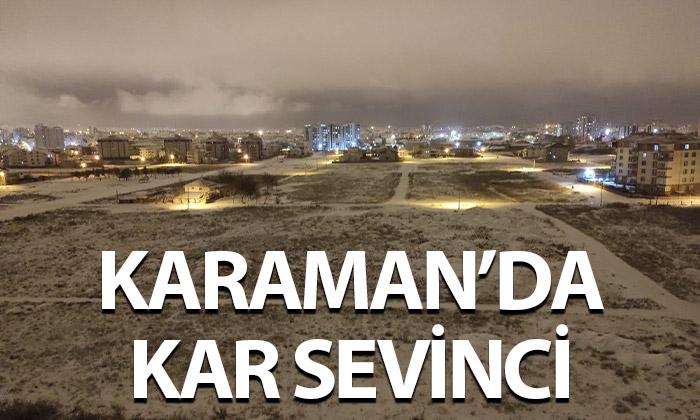 Karaman'a Kar Sonunda Yüzleri Güldürdü