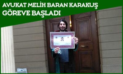 Karaman'da Genç Avukat Melih Baran Karakuş Göreve Başladı