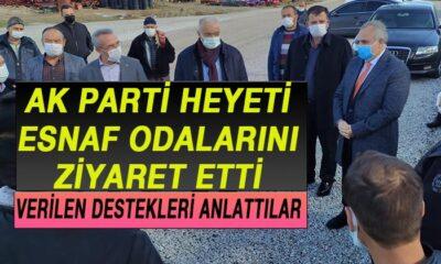 Karaman AK Parti Heyeti Esnaf Odalarını Ziyaret Etti