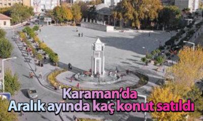 Karaman'da  Aralık ayında kaç konut satıldı?