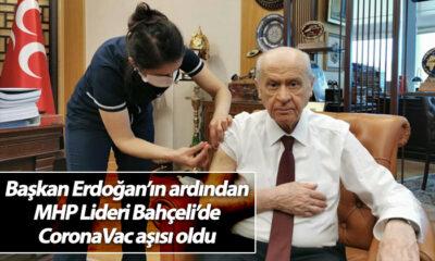Başkan Erdoğan'ın Ardından MHP Lideri Bahçeli'de CoronaVac Aşısı Oldu